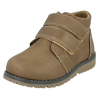 Boys JCDees Round Toe Double Strap Ankle Boots