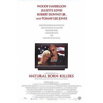 Natural Born Killers (dubbelsidig) original Cinema affisch