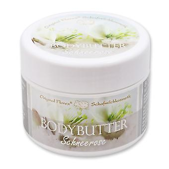 Florex Bodybutter Schneerose mit biologischer Schafmilch für intensive Feuchtigkeit bei trockener und normaler Haut 125 ml