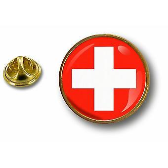 pine pine badge pin-apos;s metal button flag alurów sił powietrznych Szwajcarskie wojsko