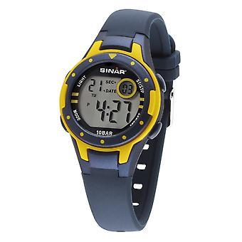 SINAR jeugd horloge Kids horloge digitale Quartz siliconen XE-52-2 geel blauw