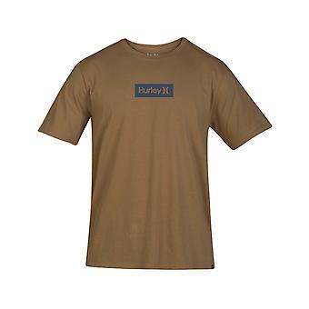 Hurley One & nur kleine Box Kurzarm T-Shirt in BeechTree