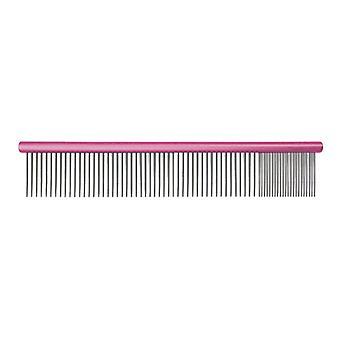 Groom Professional Spectrum Aluminium Comb 80/20 Dark Pink 25cm