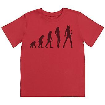 Evolution To A Cat Woman - Kids T-Shirt