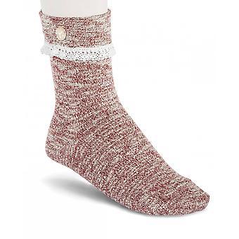 Birkenstock dames SLUB sokken kant 1015041 Tawny Port