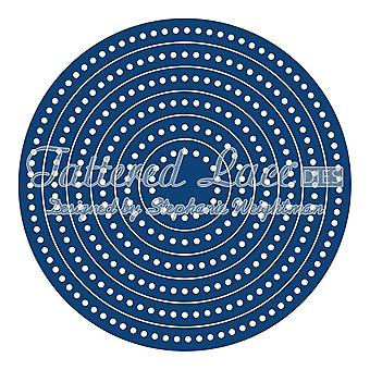 Tattered lace essentials die set decorative threaded edge circle,square, or rectangle