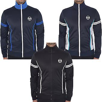 Sergio Tacchini Mens Ilka Casual Zip Closure Funnel Tracksuit Top Track Jacket