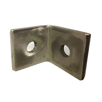 M10 2 Hole Angle Plate (1068) For Channels T304 Stainless Steel (as Unistrut / Oglaend)