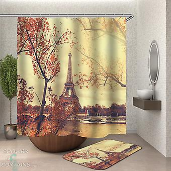 Romantic View of the Eiffel Tower Shower Curtain