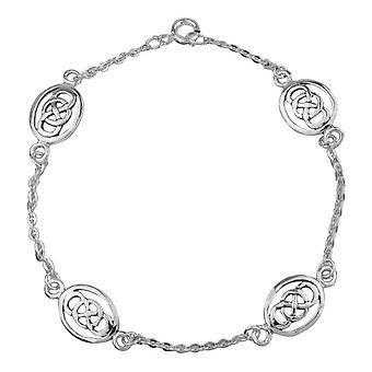 Celtic Eternity Interlaced Knotwork Oval Shape Bracelet