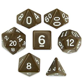 Set of 7 Polyhedral Dice, Enchanted Clay