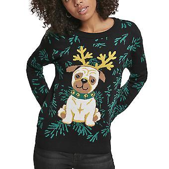 Urban Classics Ladies - Pug Mops Christmas Sweater