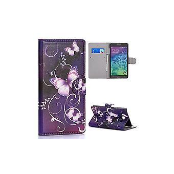 Fall för Samsung Galaxy A7 Mönster Violet Fjärilar