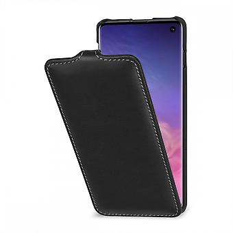 Case For Samsung Galaxy S10 Ultraslim Black Nappa In True Leather
