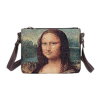 Da vinci - mona lisa cross body bag by signare tapestry / xb02-art-ldv-mona