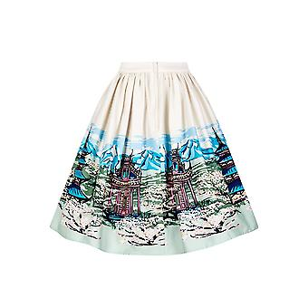 Collectif Vintage Women's Flared Jasmine Mountain Skirt