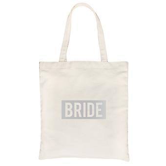 Braut Boxed-SILVER natürliche Leinwand Schultertasche süße entzückende Geschenk