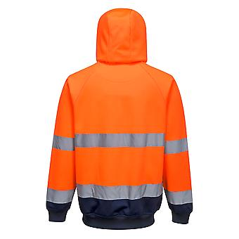 Portwest - Two Tone Hi-Vis Safety Workwear Hooded Sweatshirt