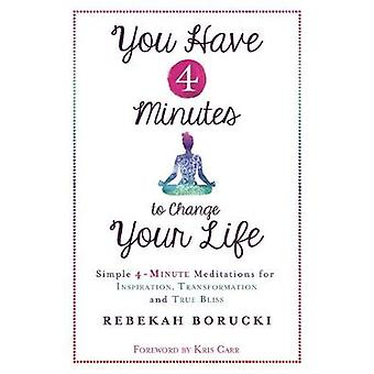 You Have 4 Minutes to Change Your Life  Simple 4Minute Meditations for Inspiration Transformation and True Bliss by Rebekah Borucki