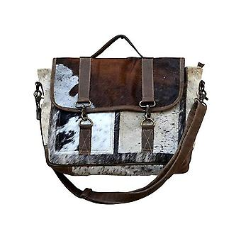Simply Wholesale Moo Leather Satchel