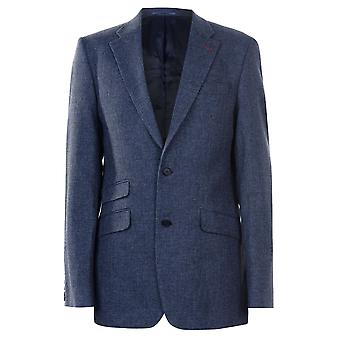 Jonathon Charles Mens Checked Jacket Suit Coat Top