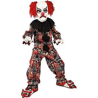 Pagliaccio spaventoso Costume, bambino, ragazzi medio età 7-9