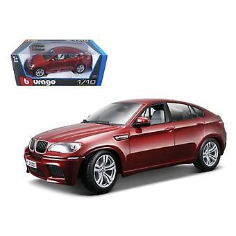 2011 2012 BMW X6M Dark Red 1/18 Diecast Car Model par Bburago