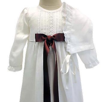 Dopklänning Och Dophätta, Mörkrosa Bred Rosett. Grace Of Sweden