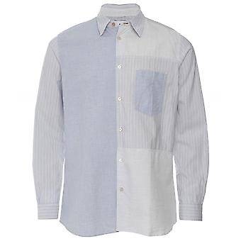 Chemise Paul Smith Casual Fit Linen Blend Patchwork
