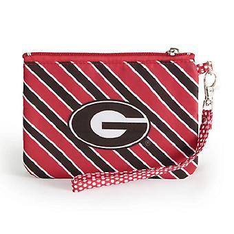 Georgia Bulldogs NCAA Striped Wristlet