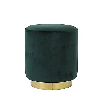 Light & Living Stool 40x45cm Nadien Velvet Dark Green And Gold