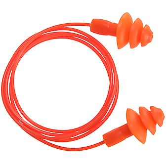 Portwest reusable corded tpr ear plug ep04