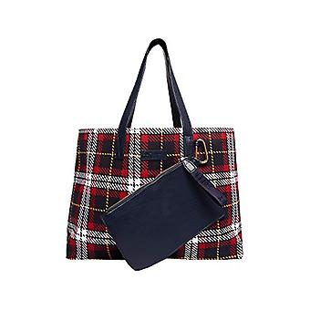 Superdry Adeena Canvas Tote - Red Check Beach Bag 30x44x11cm (W x H L)