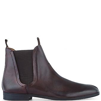 Mens H By Hudson Atherstone Burnished Leather Work Office Ankle Boots