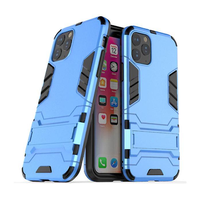 HATOLY iPhone 11 Pro - Robotic Armor Case Cover Cas TPU Case Blue + Kickstand