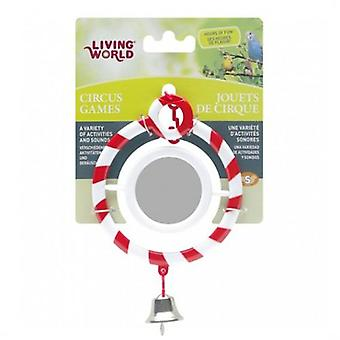 Living World Circus Mirror Red (Birds , Bird Cage Accessories , Mirrors)