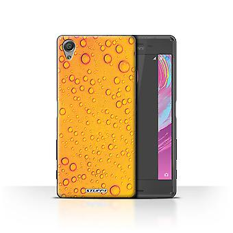 STUFF4 Case/Cover for Sony Xperia X Performance/Orange/Yellow/Water Droplets