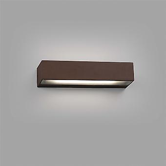 Faro Toluca - Outdoor LED Rost braun nach unten Wandleuchte 16W 3000K IP65 - FARO71053