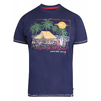DUKE Duke Hawaii Surf Print T Shirt