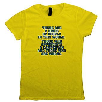 Zwei Arten von Menschen Campervan, Womens T-Shirt - T25 T4 T5 Vanlife Geschenk ihre Mutter