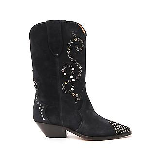 Isabel Marant Bo044820p026s02fk Women's Black Suede Ankle Boots