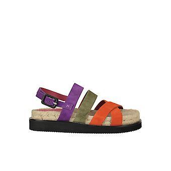 181 Ezgl315015 Women's Multicolor Suede Sandals