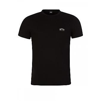 Hugo Boss Tee Buet Slim Fit Svart T-skjorte