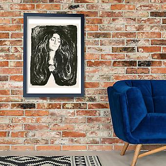 Edvard Munch - The Brooch. Eva Mudocci Poster Print Giclee