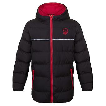 Nottingham Forest FC Official Football Gift Boys Quilted Hooded Winter Jacket