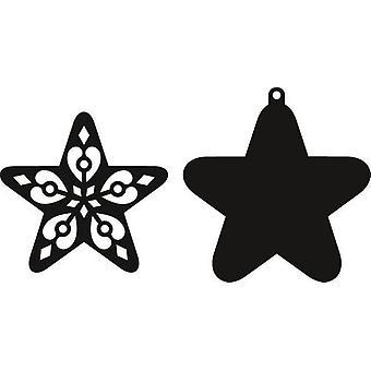 Marianne Design Craftables leikkaus kuolee - Filigree Star CR1284
