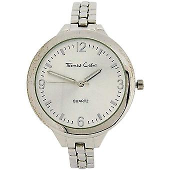 Thomas Calvi Ladies Silver Dial With Silvertone Casing & Bracelet Strap Watch