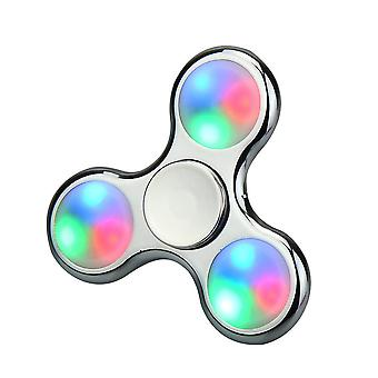 Hand Spinner LED Light in Metallic Silver