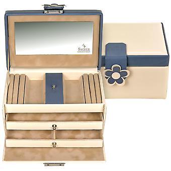 Sacher sieraden doos crème sieraden doos BELLA FIORE Blue Castle spiegel