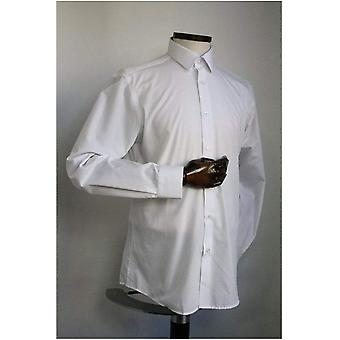White Tapered Fit Shirt